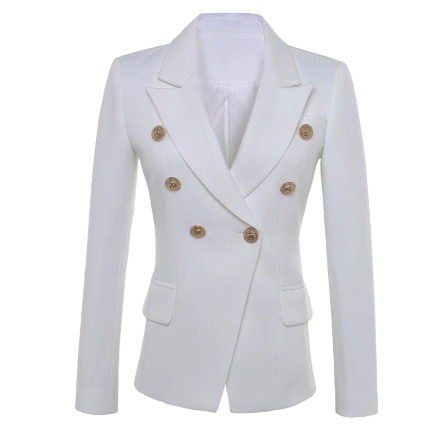 White Double Breasted High Quality Blazers