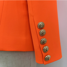 Load image into Gallery viewer, Neon Orange Double Breasted Blazer