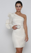 Load image into Gallery viewer, One shoulder dress with a belt
