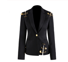 Load image into Gallery viewer, Notched Long Sleeve Blazer
