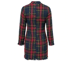 Load image into Gallery viewer, Plaid Tassel Dress