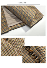 Load image into Gallery viewer, Plaid Suit Jacket high-quality