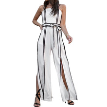 Load image into Gallery viewer, Sleeveless Jumpsuit Women Strap High Waist Split