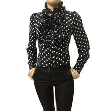 Load image into Gallery viewer, Vintage Chiffon Polka Dots Women's Body Blouse