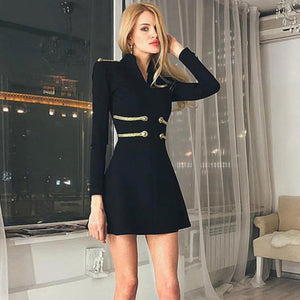 O Neck Mini Club Dress