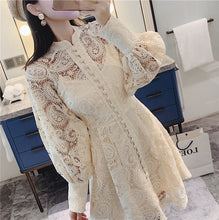 Load image into Gallery viewer, Fashion Embroidery Hollow Out White Dress