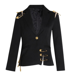Notched Long Sleeve Blazer