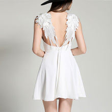 Load image into Gallery viewer, Angel Wings  Casual Slim Backless Beach Dress