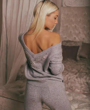 Load image into Gallery viewer, Cashmere Diamond Knitted warm Suit V Collar Sweater