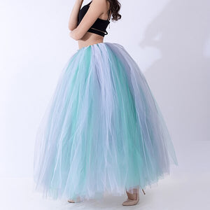 100cm Length Pleated Tulle Overskirt