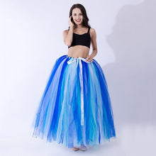 Load image into Gallery viewer, 100cm Length Pleated Tulle Overskirt