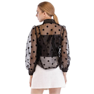 Black Polka Dot Blouse