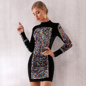Sequined Bodycon Dress Women