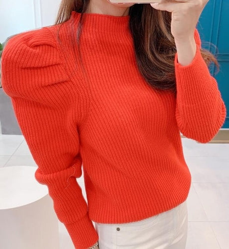 Long Puff Sleeve Sweet Sweater