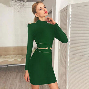 O Neck Bodycon Evening Party Dresses
