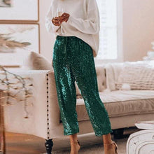 Load image into Gallery viewer, Sexy Sequined Glitter  Long Pants