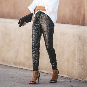 Sexy Sequined Glitter  Long Pants