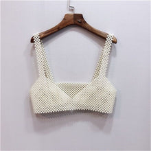Load image into Gallery viewer, Crochet Pearls Tank Bralette