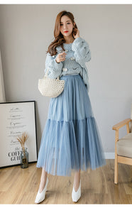 Princess Ball  Puff Vintage Lolita Jupe Mesh Skirt