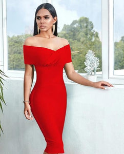 Off Shoulder Bandage Dress Women