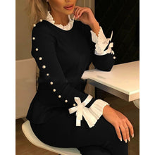 Load image into Gallery viewer, Bowknot Bell Sleeve Knit Tops