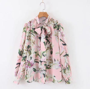 Sweet Floral Print With Bow
