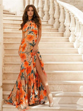 Load image into Gallery viewer, Vintage Party  Print  Maxi Dress