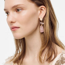 Load image into Gallery viewer, Irregular Pink Simulation Stone Resin Drop Earring
