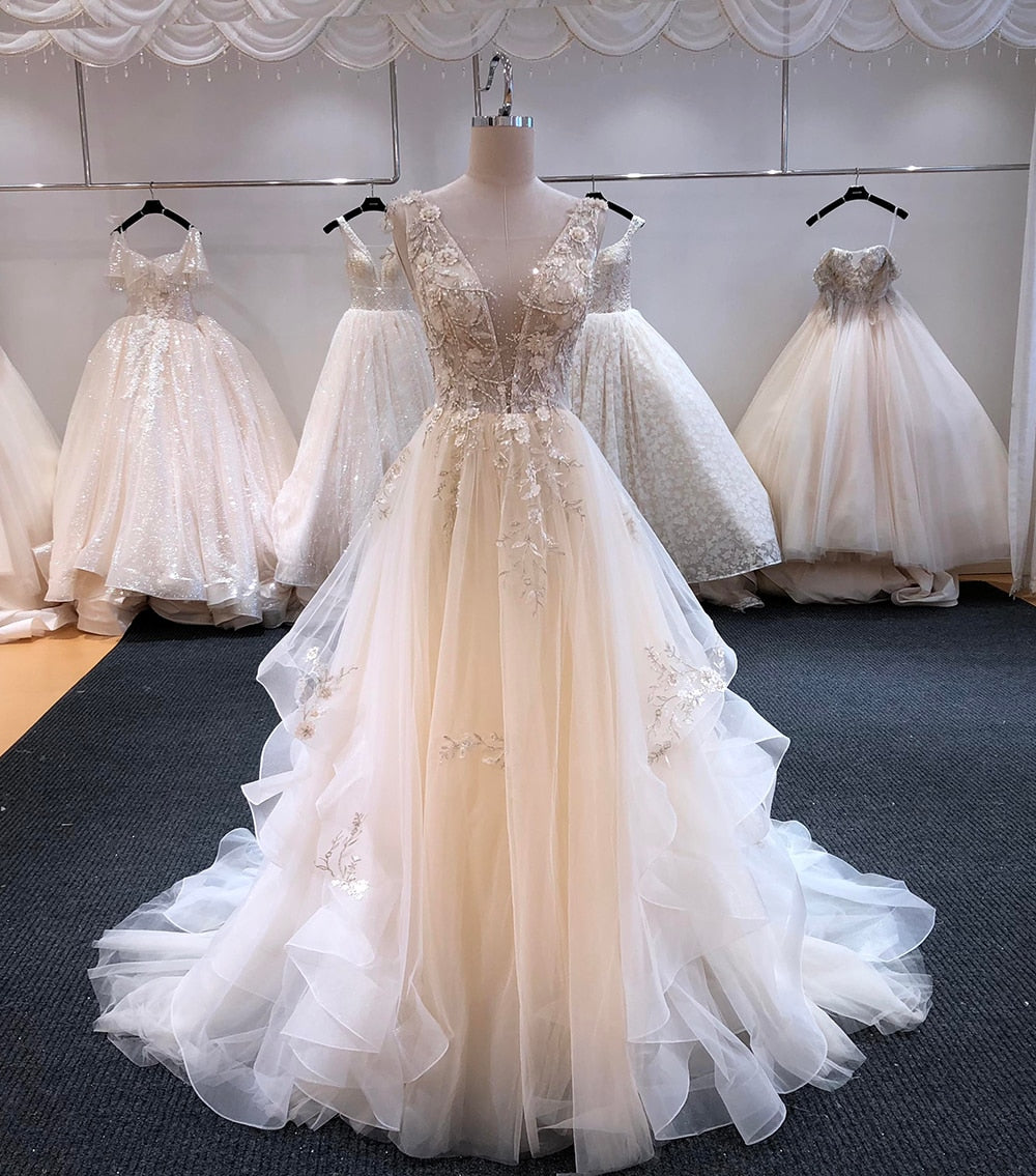 Zoe A-Line V-neck Wedding Dress