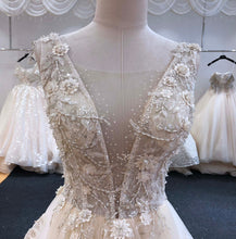 Load image into Gallery viewer, Zoe A-Line V-neck Wedding Dress