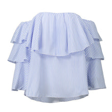 Load image into Gallery viewer, Elegant   Ruffle Off Shoulder Butterfly Long Sleeve Casual Top