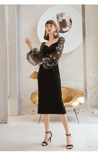Load image into Gallery viewer, Cora  Vintage Velvet Dress