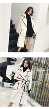 Load image into Gallery viewer, Wavy Side Embroidered notched Sleeve Coat