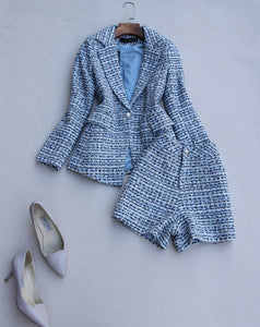2 Pieces Sets Shorts Tweed  Suits