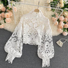 Load image into Gallery viewer, Sexy Lace Hollow Out Short Blouse