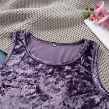 Load image into Gallery viewer, Iris Velvet Pajamas Sets Sleeveless  Lounge Wear Warm  Set