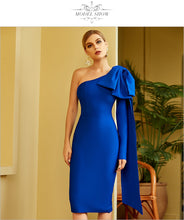 Load image into Gallery viewer, One Shoulder Bodycon Bandage Dress