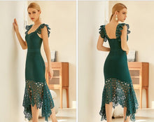 Load image into Gallery viewer, Lace Sleeveless Bandage Dress