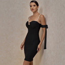 Load image into Gallery viewer, Beaded  Off Shoulder Bandage Dress
