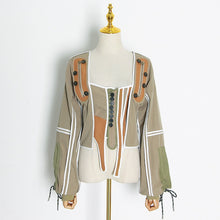 Load image into Gallery viewer, Casual Patchwork  Irregular Jacket