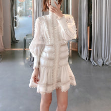 Load image into Gallery viewer, Mila Ruffles Hollow Out Mini length Dress