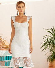 Load image into Gallery viewer, White Lace Mermaid  Dress