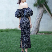 Load image into Gallery viewer, Dot Print Slim Dress