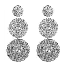 Load image into Gallery viewer, Exaggerated Multi-layer Round Drop Earrings