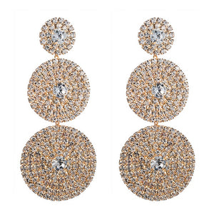 Exaggerated Multi-layer Round Drop Earrings