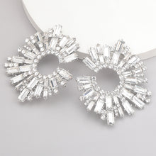 Load image into Gallery viewer, Shiny Rhinestone Drop Earrings
