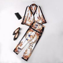 Load image into Gallery viewer, Vintage  Single Button Blazer Pants Suits