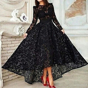 Lux Black Evening  A-line  Dress