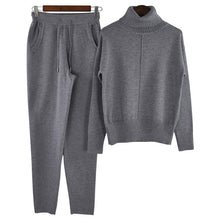 Load image into Gallery viewer, 2 Piece Knitted Wool  Tracksuit Pullover Sweater & Pant