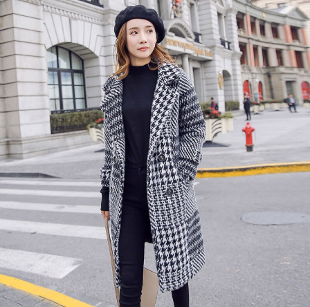 Single Button  Fashion Coat